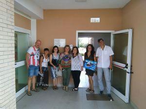 Con el equipo del Centro de Rehabilitación