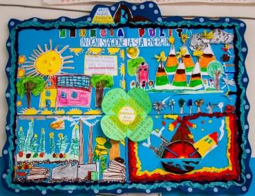 Mural realizado por alumnado de primaria