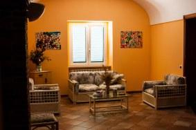 """Sala de estar de """"Villa Santa Chiara"""""""