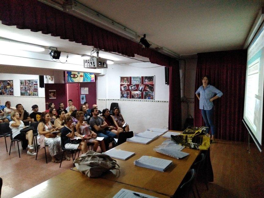 Presentación del proyecto en el IES SALVADORALLENDE